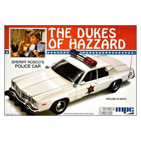 Dukes of Hazzard Roscoes Dodge Monaco Police Car Model Kit