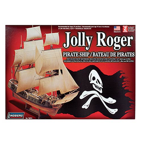 Jolly Roger Pirate Ship 1:130 Scale Model Kit