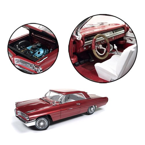 Go back to the 60's with this 1962 Pontiac Grand Prix 1:18 Scale Die-Cast Metal Vehicle! The Pontiac Grand Prix was based on the Catalina coupe, but with less chrome trim, an updated grill, and distinctive headlights. Only 16 were ever produced by Pontiac and Auto World has faithfully replicated that iconic vehicle with this 1:18 scale die-cast metal vehicle.