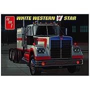 White Western Star Semi Truck Model Kit