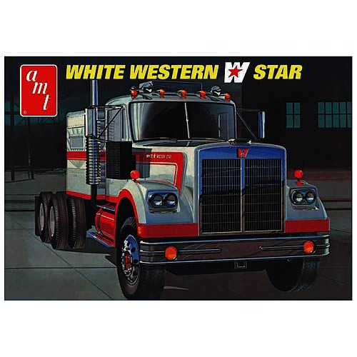 White Western Star Semi Truck Model Kit