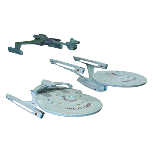 Star Trek Cadet Series 1:2500 Scale Model Kit 3-Pack