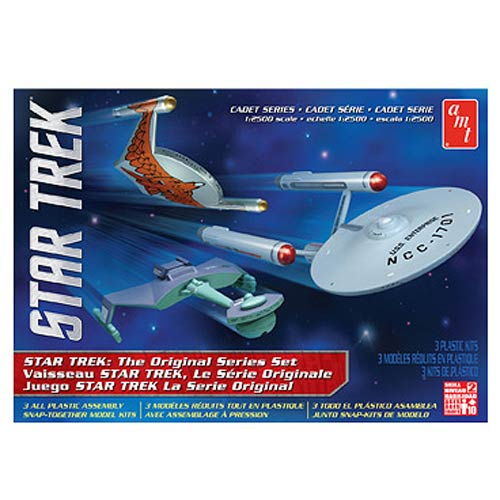 Star Trek TOS Cadet Series Ship 1:2500 Scale Model Kit Set