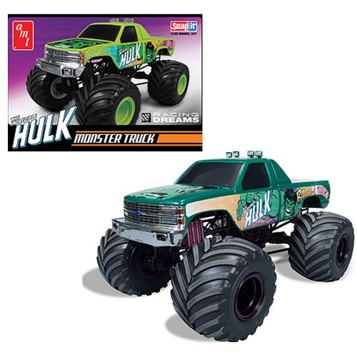 Incredible Hulk Chevy Monster Truck 1:32 Snap-Fit Model Kit