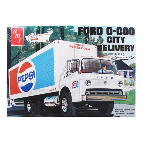 click for Full Info on this Ford C 600 Pepsi City Delivery Truck 1:25 Scale Model Kit