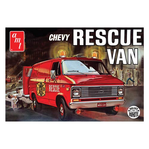 Chevy Rescue Van 1975 Dual Color 1:25 Scale Model Kit