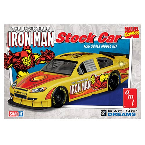 Iron Man Chevy Impala Stock Car 1:25 Snap-Fit Model Kit