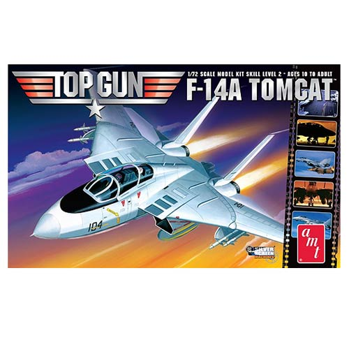 Top Gun F-14A Tomcat Fighter Jet 1:72 Scale Model Kit