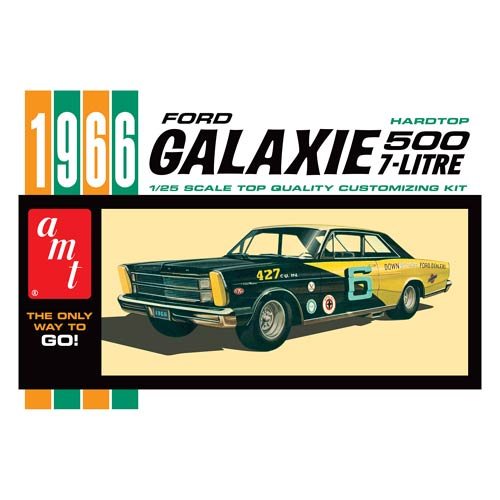 This 1966 Ford Galaxie Model Kit from Round 2 spotlights the 1966 version of the staple of the Ford brand from 1959 through 1974. If you collect classic Ford cars, this kit is for you! Glue and paint required (Not Included). Ages 10 and up.