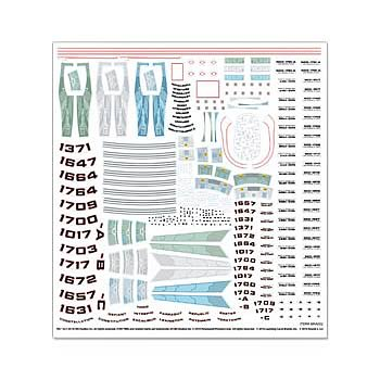 Star Trek USS Enterprise NCC-1701 1:1000 Scale Decal Set