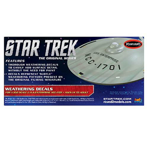Star Trek USS Enterprise 1701 1:350 Scale Weathering Decals