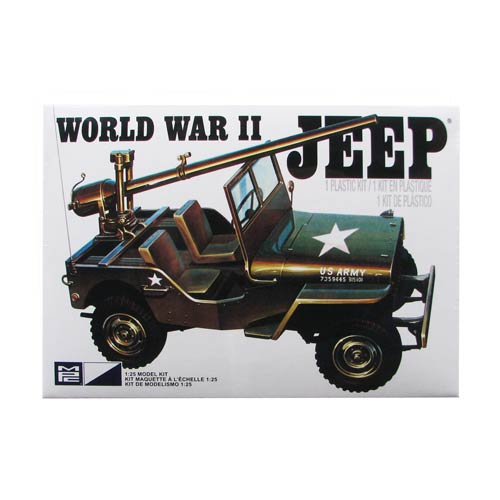 U.S. Army World War II Military Jeep 1:25 Scale Model Kit