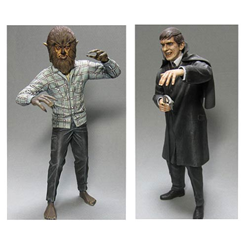 Dark Shadows Barnabas and Werewolf 1:8 Model Kit 2-Pack