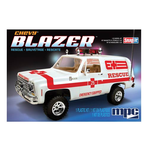 Chevy Blazer Rescue 1976 Snap-Fit 1:25 Scale Model Kit