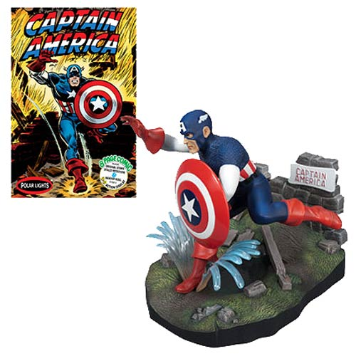 Captain America Comic Scene 1:8 Scale Model Kit