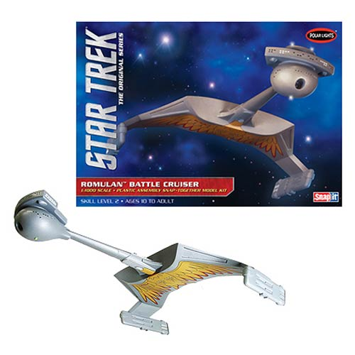 Star Trek Romulan Battle Cruiser 1:1000 Snap-Fit Model Kit