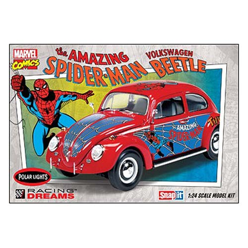 Spider-Man VW Beetle 1:24 Scale Snap-Fit Model Kit