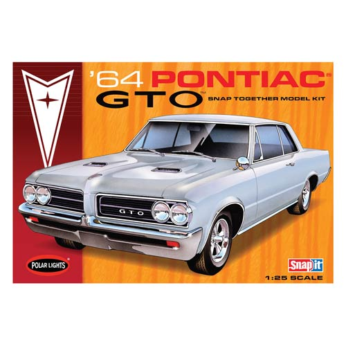 Pontiac GTO 1964 Snap-Fit 1:25 Scale Model Kit