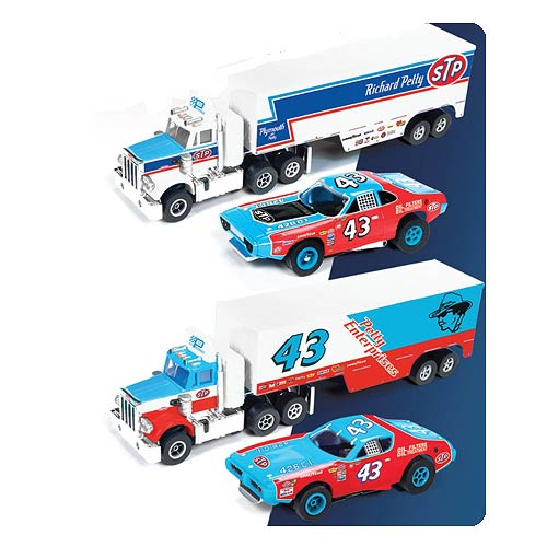 Richard Petty Release 9 Racing Rig Slot Car Set
