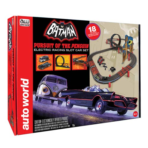 Batman Pursuit of Penguin Electric Slot Car Racing Playset