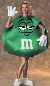 M&M Green Deluxe Costume