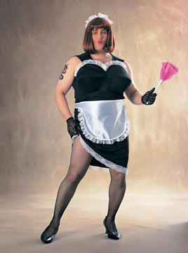 Fat Guy French Maid Costume - Rubies - Halloween - Costumes at ...