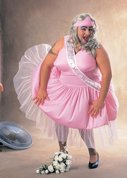 Fat Guy Prom Queen Costume