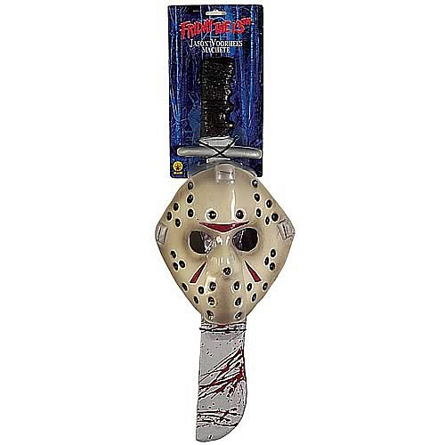 Friday the 13th Jason Mask & Machete Kit