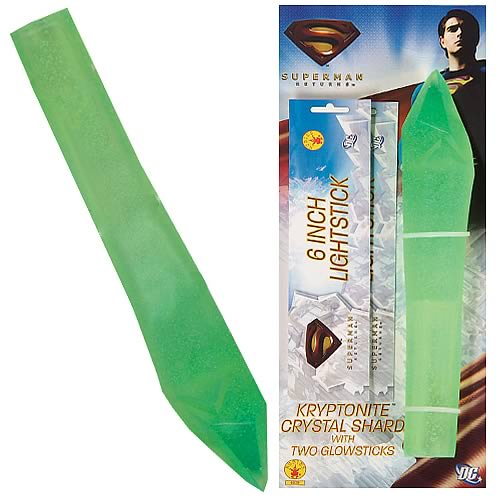 Superman Returns Kryptonite Crystal Shard with Glowsticks