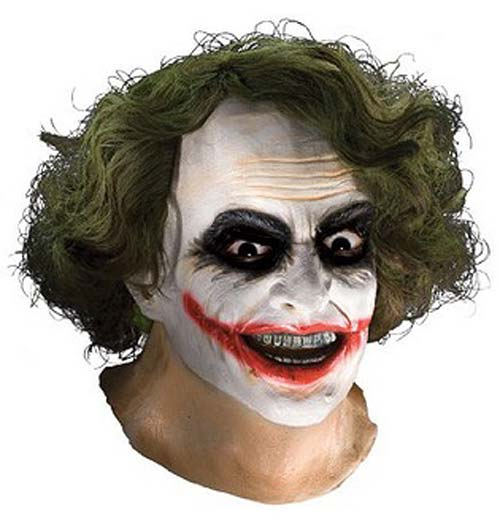 Batman The Dark Knight The Joker Full Latex Mask with Hair