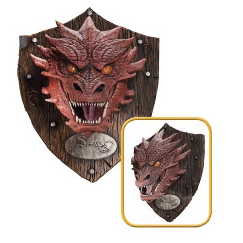 The Hobbit Smaug Head Resin Mounted Trophy Rubies