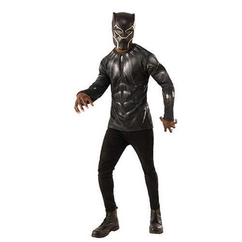 Black Panther Costume Top with Mask
