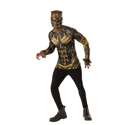 Black Panther Erik Kilmonger Costume Top with Mask
