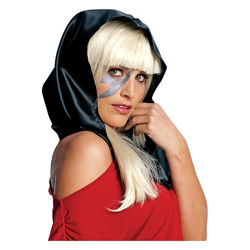 Lady Gaga Black Headscarf Accessory