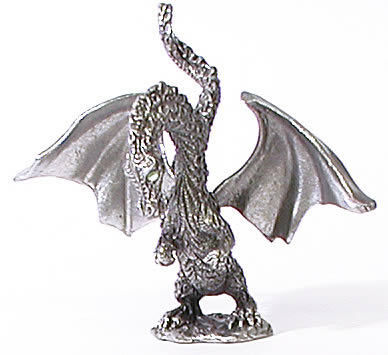Pewter Baby Winged Dragon
