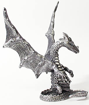 Pewter Proud Parent Dragon