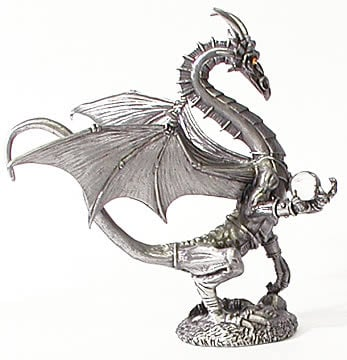 Pewter Silver Dragon