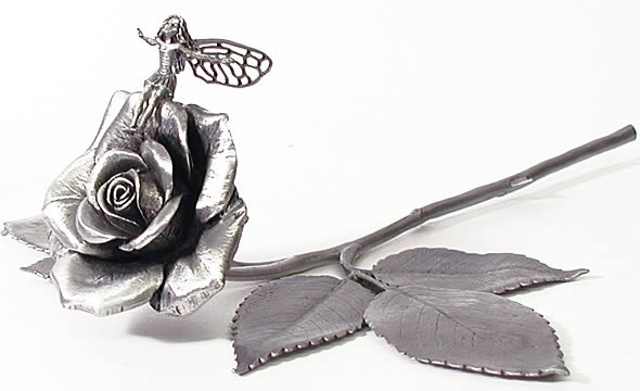 Pewter Rose Fairy