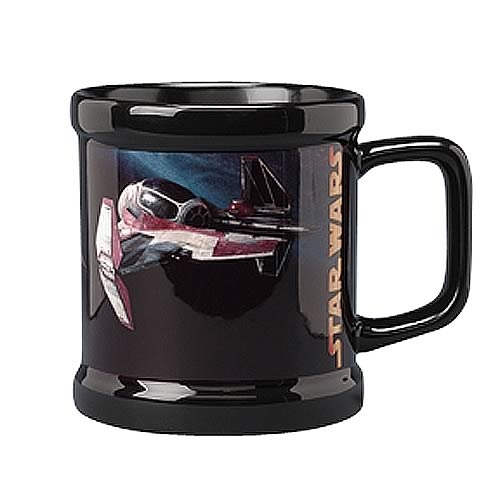 Star Wars Jedi Starfighter Black Mug
