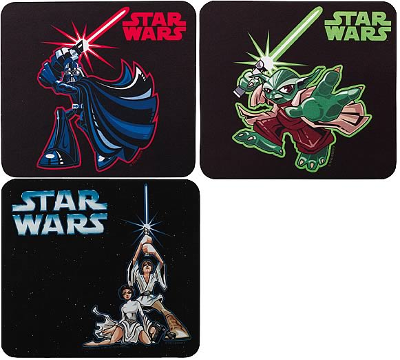 Star Wars Cartoon Mousepad Set