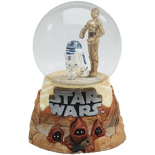 Star Wars C-3PO & R2-D2 Water Globe