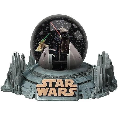 Star Wars Yoda vs. Darth Sidious Water Globe
