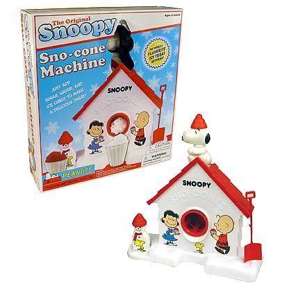 Snoopy Sno-Cone Machine in Retro Packaging