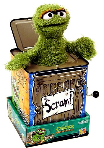 Sesame Street Oscar the Grouch Jack in the Box