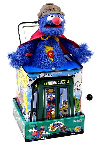Sesame Street Super Grover Jack in the Box