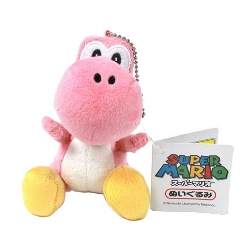 Super Mario Bros. Pink Yoshi 5-Inch Plush Key Chain