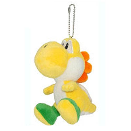 Super Mario Bros. Orange Yoshi 5-Inch Plush Key Chain