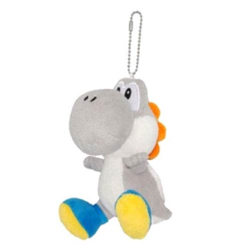 Super Mario Bros. Silver Yoshi 5-Inch Plush Key Chain