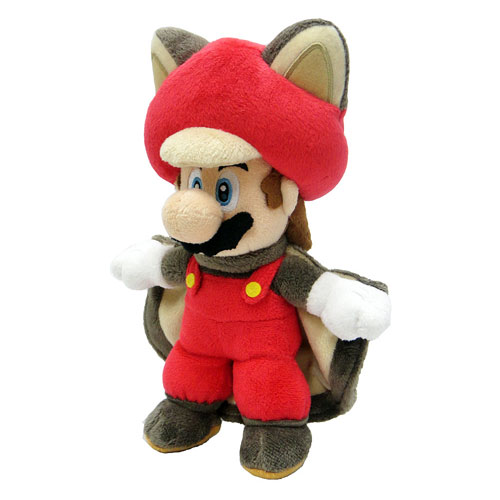 Super Mario Bros. Flying Squirrel Mario 9-Inch Plush
