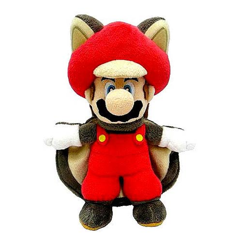 Super Mario Bros. Flying Squirrel Mario 14-Inch Plush